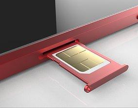 smart phone and sim 3D model