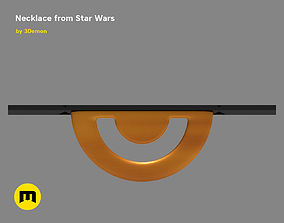 Necklace Emilia Clarke from Star Wars 3D printable model 1