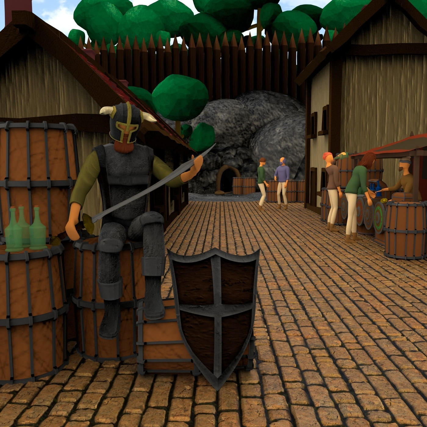 Guard In a Village Environment