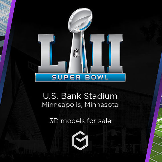 3D Stadium - Superbowl NFL