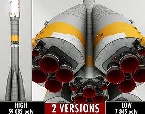3D ship Space Launcher Progress Soyuz-FG