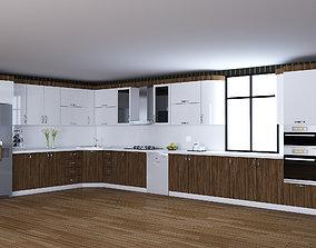 Wood Kitchen Furniture Design Sadiq 3D asset