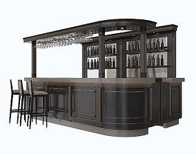 Bar 3d model cafe