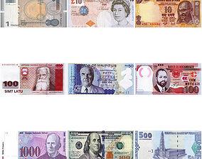 countries money 3D model