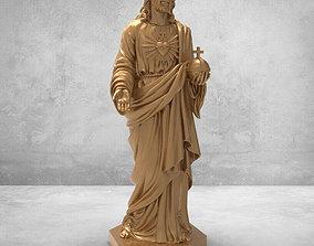Jesus 3D STL Model Religion for CNC Router Aspire 3D