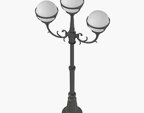 3D asset Street Light Lamp Post