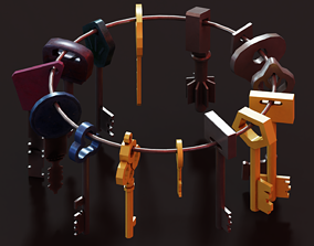 3D model game-ready Keys - Low Poly Package