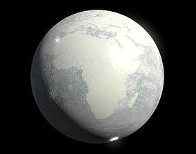 Frozen Earth Planet - 8k PBR 3D model