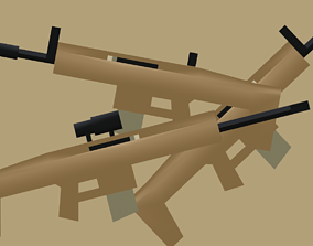 SCAR-H in 3 variables 3D asset