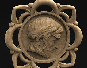 Pendant Face of Christ Jewel 3D Model art