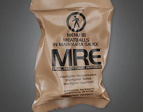 3D model MLT - Military Rations Meal - PBR Game Ready
