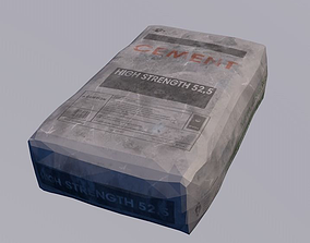 Cement bag 3D asset
