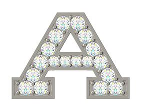 Letter A 3D print model