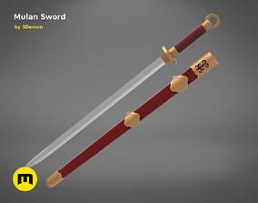 Mulan Sword and Sheath 3D print model