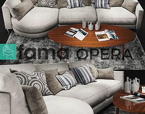 3D Sofa Fama Opera White