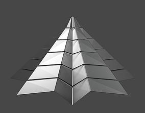 3D model Iron Pyramidal Structure 8 Corners Little 1