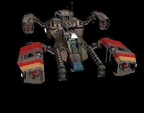 space ship D 575 3D asset