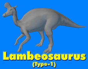 3D Lambeosaurus Type-1 D