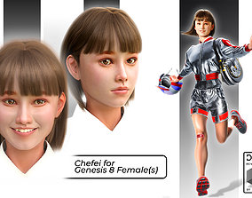 3D model Chefei for Genesis 8 Females