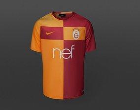 low-poly Galatasaray Uniform 3D Model