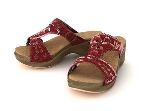Female Open Toe Sandals 3D model