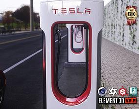 Tesla Supercharger 3D asset