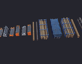 Storage Pipe 3D asset