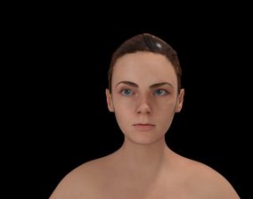 Female Low-poly 3d Model rigged game-ready