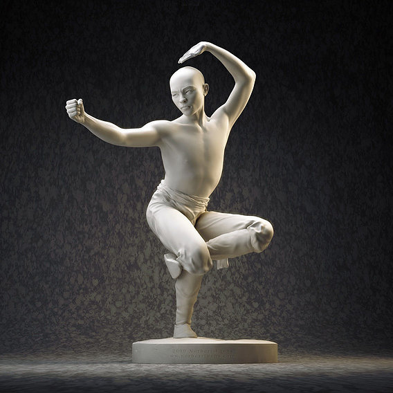 Shaolin Monk statute