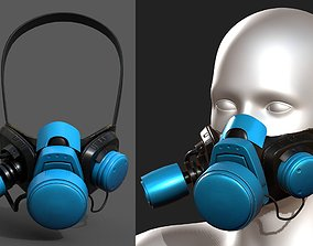 realtime Gas mask helmet 3d safety isolated