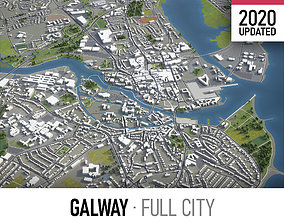 Galway - city and surroundings 3D asset
