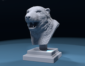 Bust a bear 3D print model