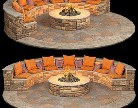 3D model Resting place by the fire