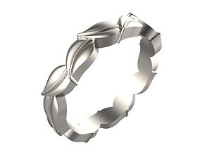 Leaf Design ladies Ring 3D printable model