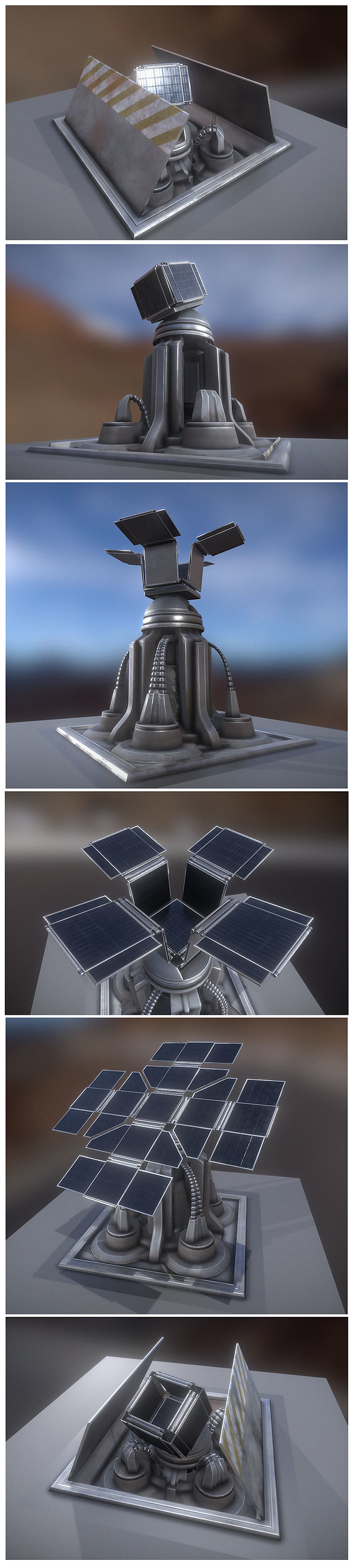 Futuristic Solar Power Tower