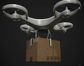 3D model Cargo Drone