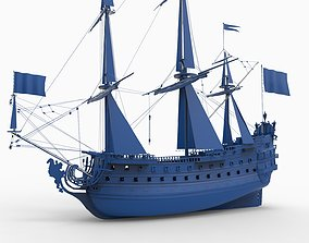 LE SOLEIL ROYAL SHIP 1669 3D printable model
