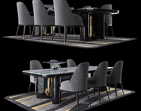 3D LUXURY - Charisma Dining Table Chair