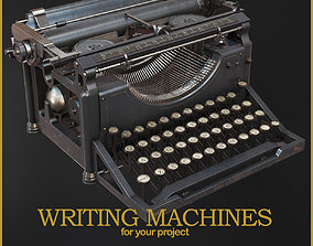 Writing Machines 3D low-poly