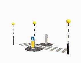 Zebra Crossing 3D asset