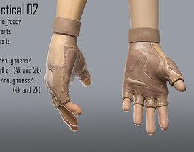 hand glove tactical 02 3D asset