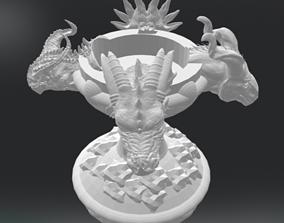 3D printable model Four Dragon Candlestick