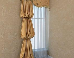 Curtain coal 3D model