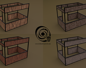 game-ready Stall stand 10 4in1 R - 4 PBR Texture 1 Model