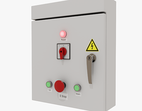 3D model low-poly Electrical Control Box