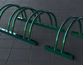 Sectional bicycle parking 3D model