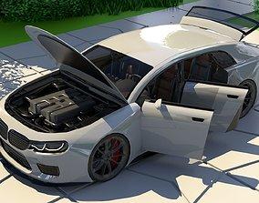 3D model Generic Small 4 Door Hatchback With Sport 1