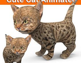 3D model Cute Cartoon Cat Animated