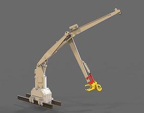 Anchor handling crane 3D print model