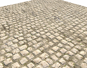 3D model Cobblestone Road 12 PBR
